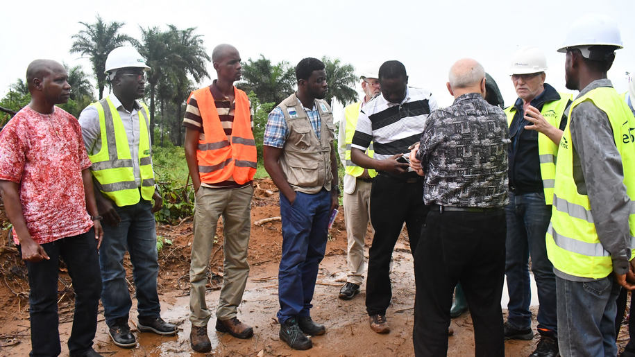 World Bank and Transco CLSG site visit to Liberia